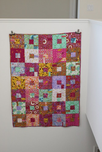 Squares in squares baby quilt, front | by ashmom