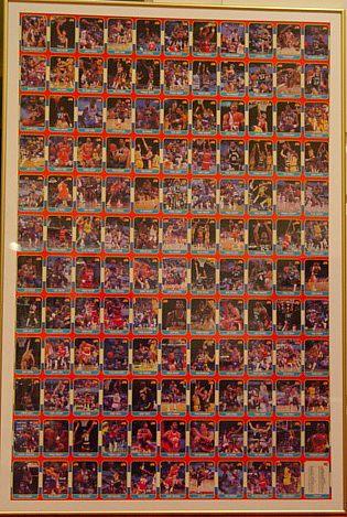 1986 87 Fleer Basketball Uncut Sheet With The Michael Jordan Rookie Card 57