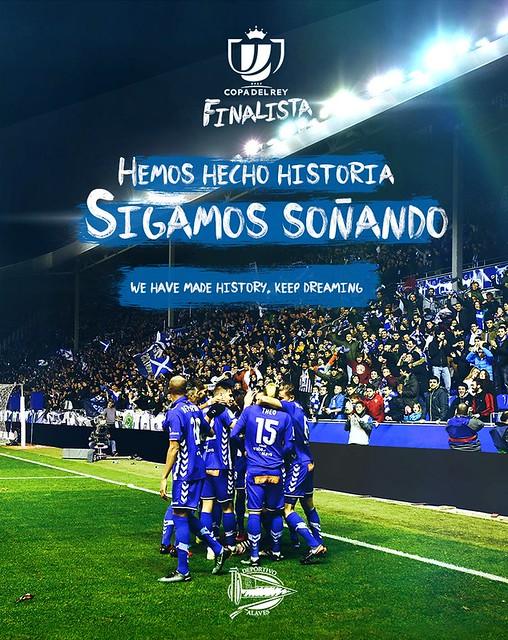 Primera Final de la história del Alavés