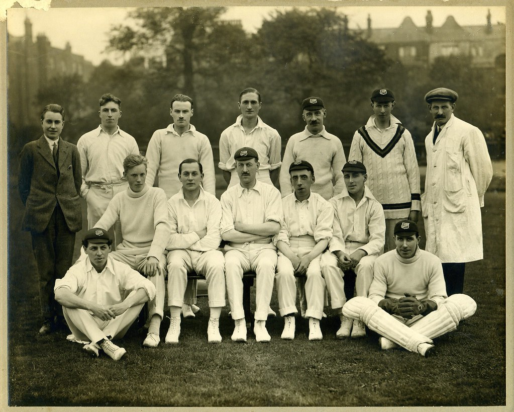 Vintage photos of cricketers are