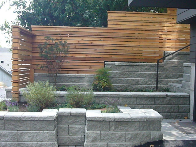 Modern fence seattle columbia city house tour heath for Modern house 3d tour
