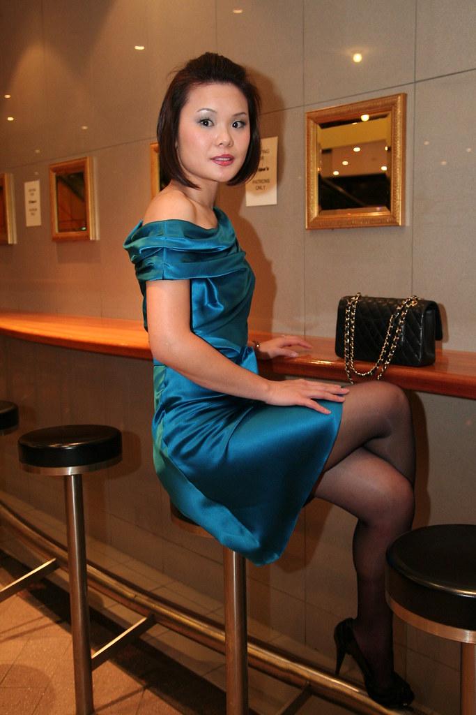 Wife In Collette Dinnigan  Attention Seeking Dress