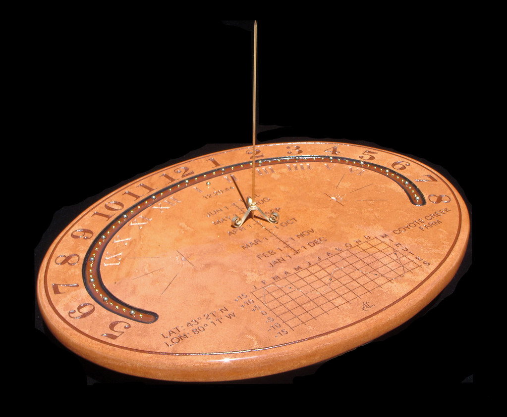Analemmatic Stone Table Top Sundial 6 By John Carmichael