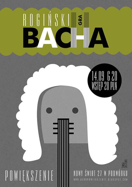 Rogiński Gra Bacha Poster Plakat Dla Warszawskiego Klubu