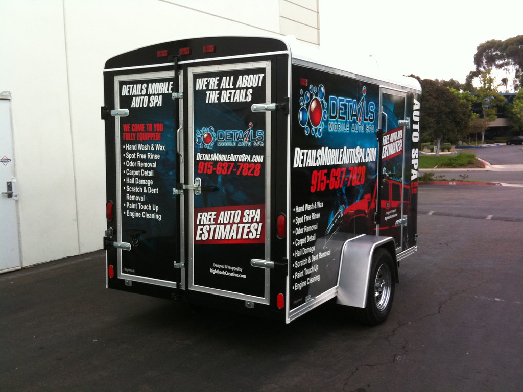 Auto Detailing Trailer Wrap | www.rightlook.com/auto ...