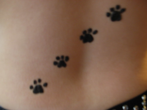 Cat And Dog Paw Print Tattoos