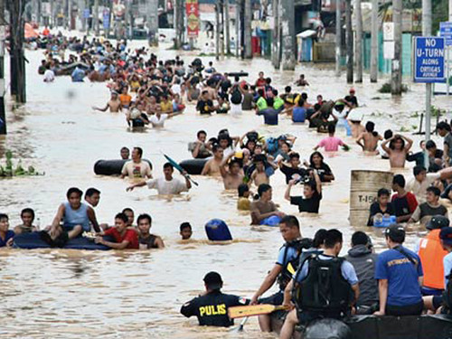 Flash flood in the philippines