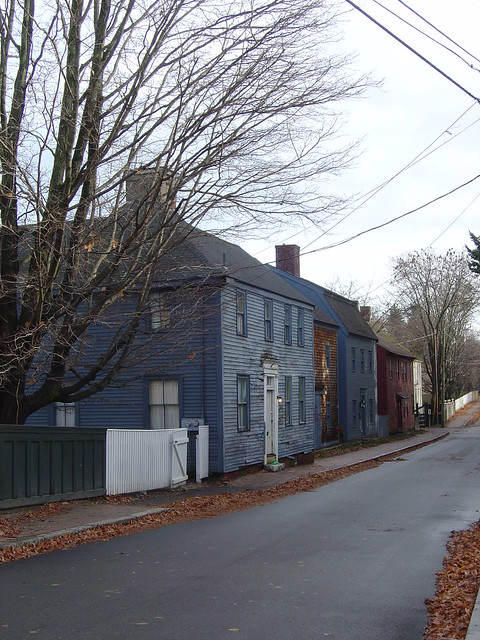 Antique Homes On Strawbery Banke Portsmouth New Hampshire