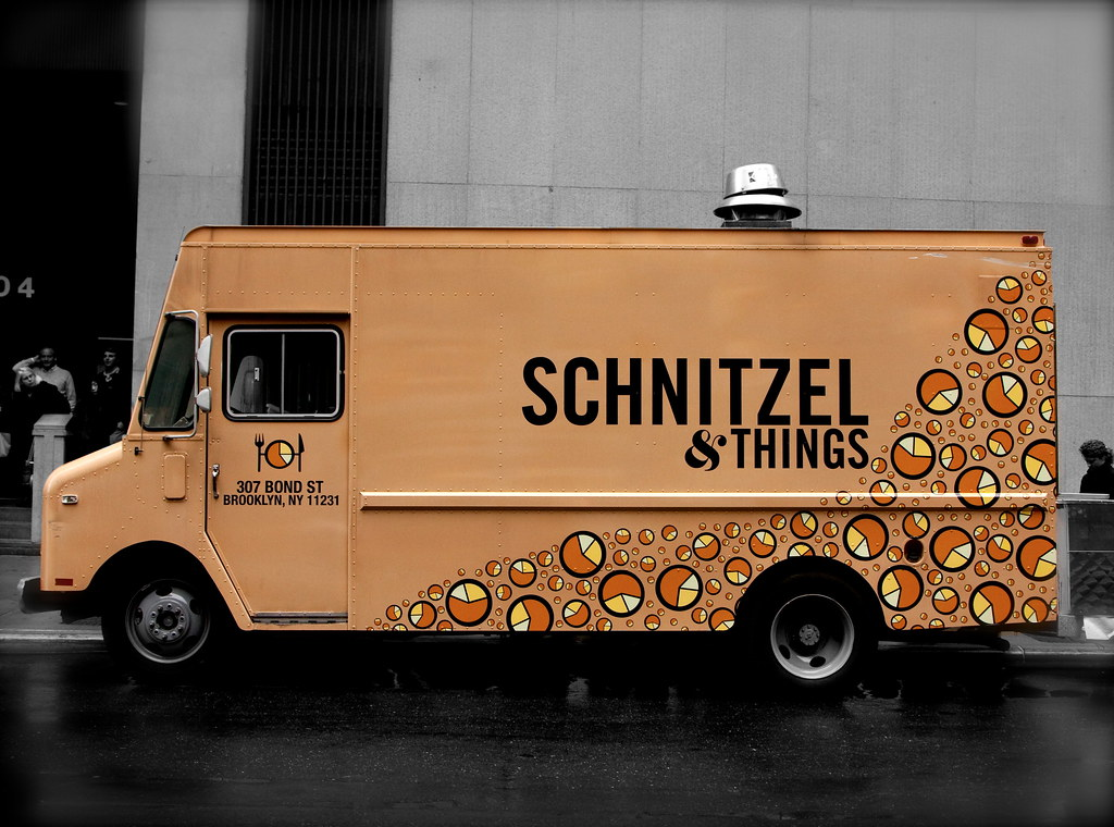 Schnitzel things food truck wall street nyc view for How to design a food truck