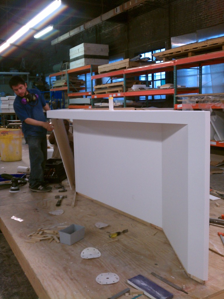 Bar Fabrication Exterior Bar With Corian Cladding Stainle Flickr
