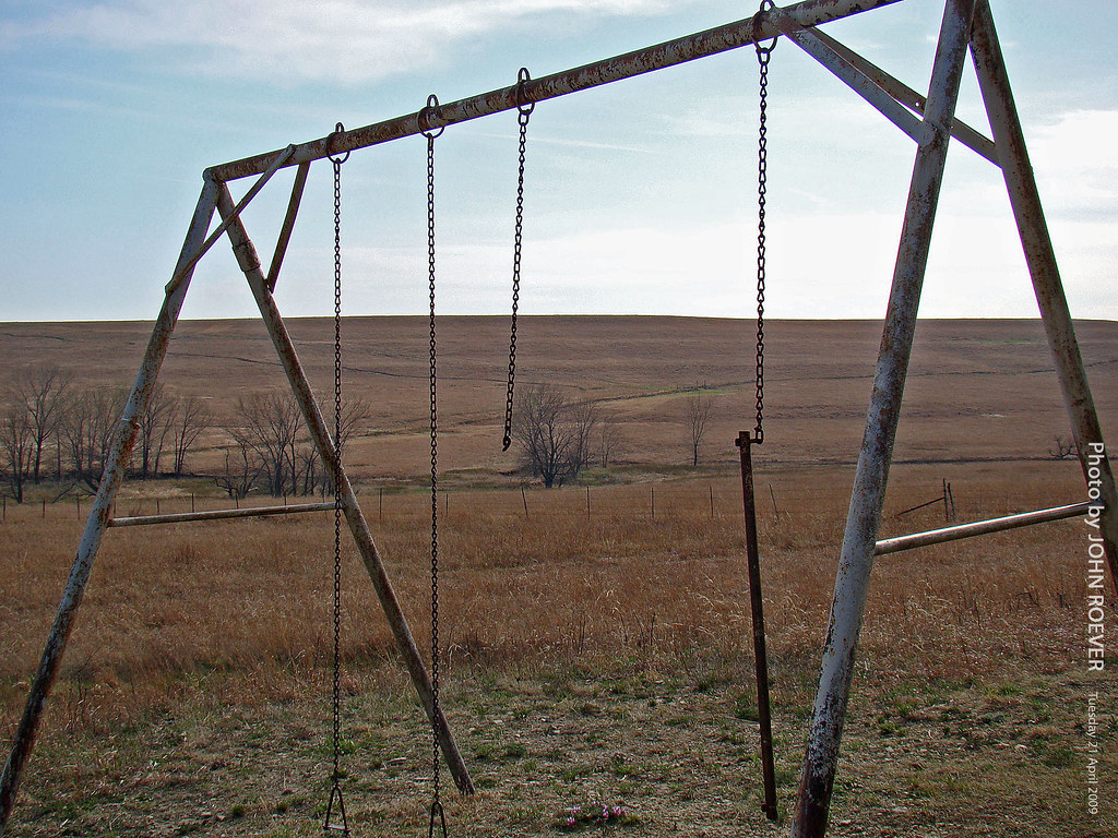 Old Swing Set In The Flint Hills 21 April 2009 Old