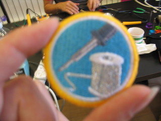 My soldering merit badge. This made my day :-) | by fluffyemily