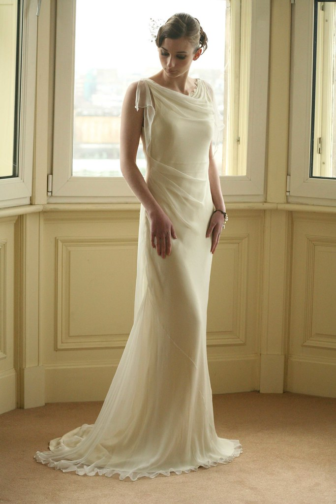 Interesting wedding dress | bias cut silk wedding dress | Flickr