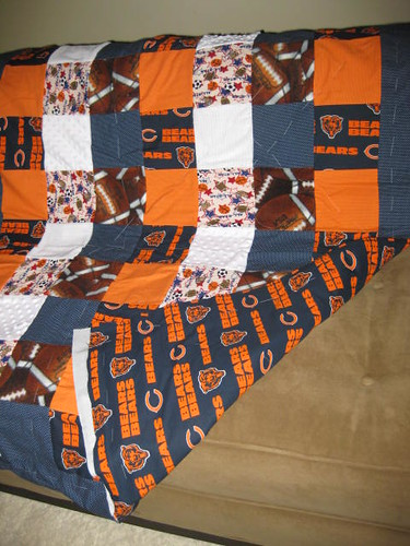 Chicago Bears Baby Quilt | My step-daughter is due with her … | Flickr : chicago bears quilt - Adamdwight.com