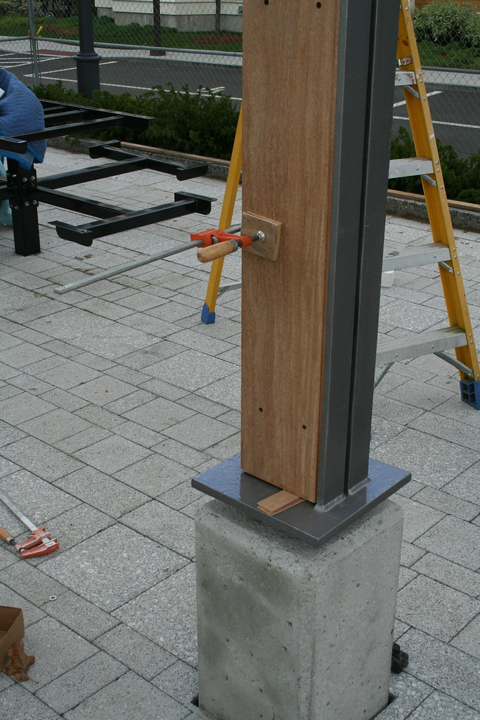 Concrete Base Wood And Steel Angle Column Glen P Flickr