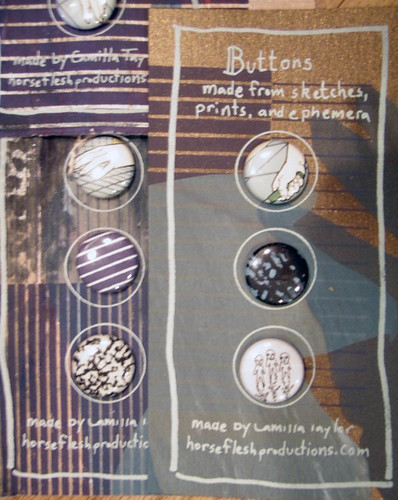 buttons' packaging | by Camilla Taylor