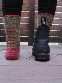 New Boots and Contracts socks, back | by weaverknits