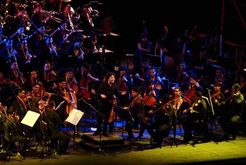 Gustavo Dudamel y la Orquesta Sinfónica Simón Bolívar