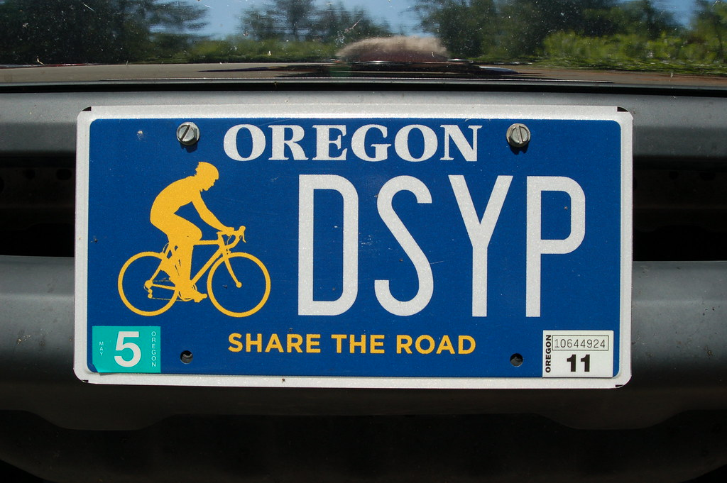 License Plate Camera >> Oregon - Share the Road license plate | seen at Ape Canyon t… | Flickr