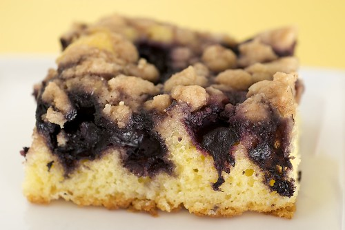 Blueberry crumb cake | by bakeorbreak