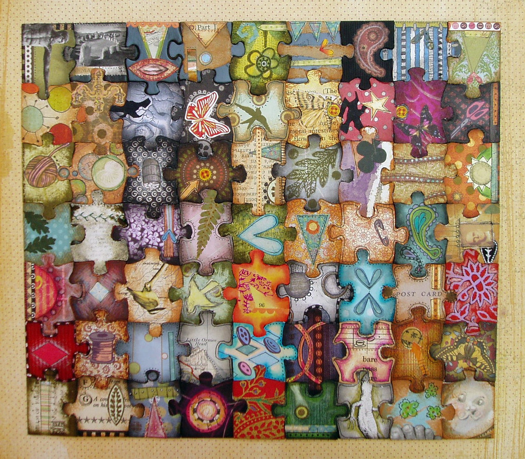 completed art puzzle wooo finished it 39 s so funny to see t flickr. Black Bedroom Furniture Sets. Home Design Ideas