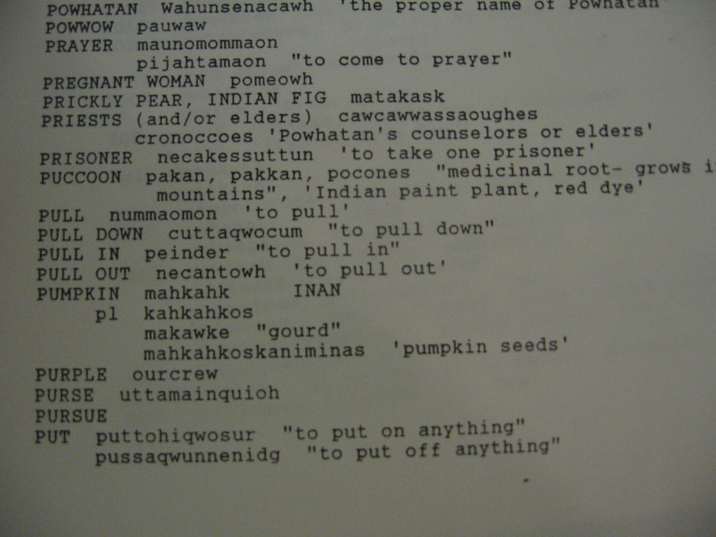 Powhatan language vocabulary - pumpkin - mahkahk or gourd …   Flickr