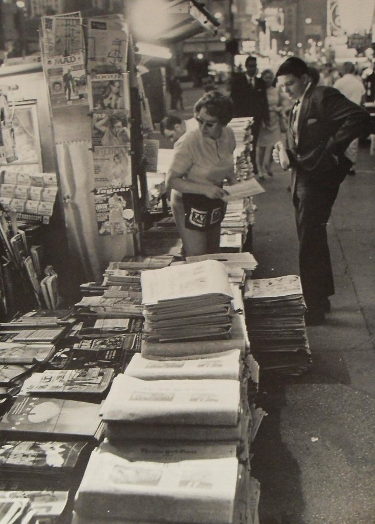New York City 1967 Newspaper Stand Vintage