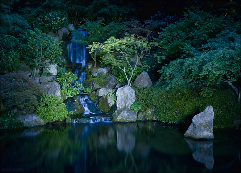 Japanese Garden At Night Portlands Japanese Garden at nig Flickr