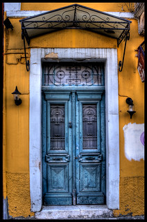 Blue door, yellow wall | by D.Amvrazis (aka Stoxasths)