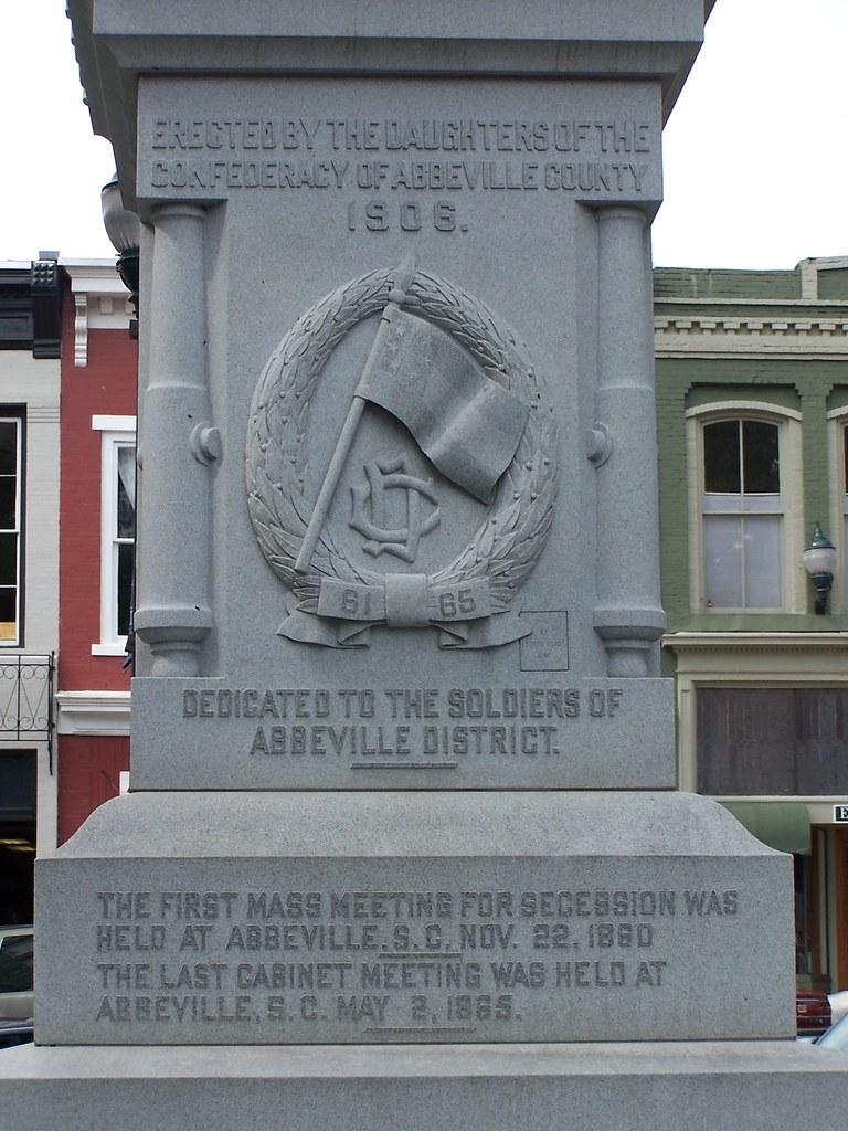 Abbeville Confederate Monument Inscription 2 Abbeville