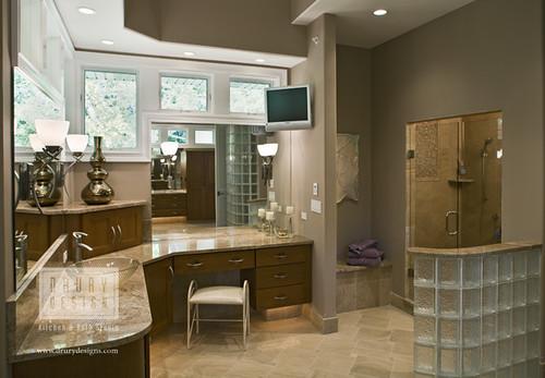 Transitional bath drury design 512 n main street glen for Gail drury kitchen designs