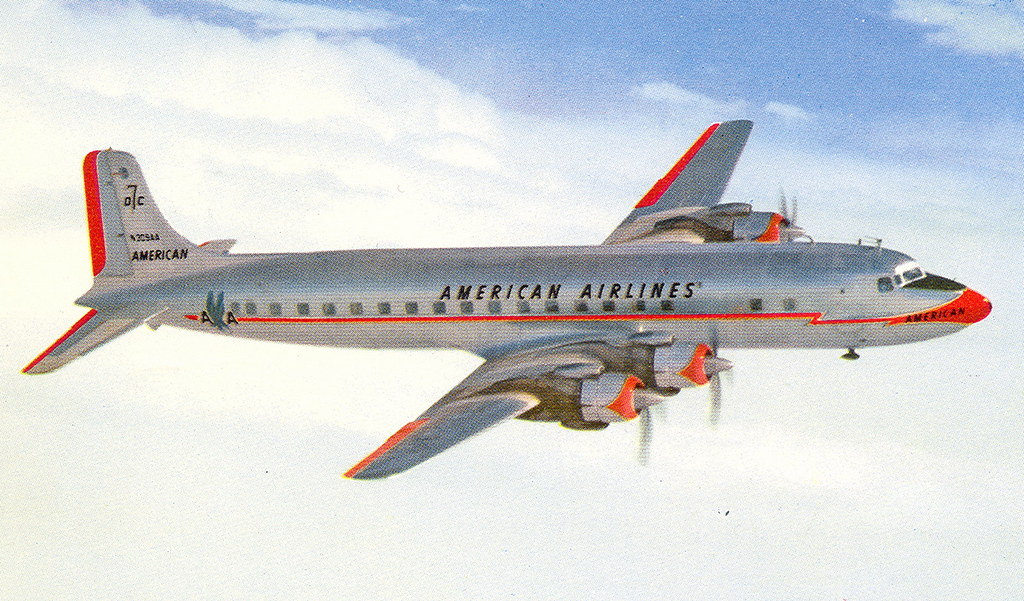 American Airlines Mercury Service Operated Dc 7 The Finest