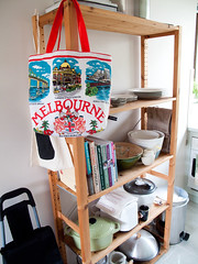 melbourne vintage teatowel tote | by birds & trees