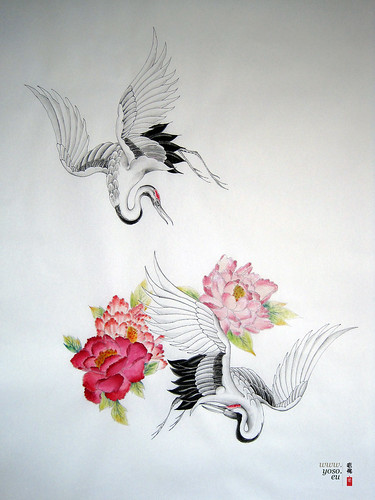 chinese crane bird tattoo hot girls wallpaper. Black Bedroom Furniture Sets. Home Design Ideas
