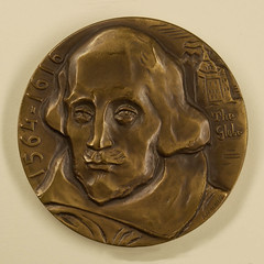 1964 Shakespeare 400th Anniversary Medal obverse