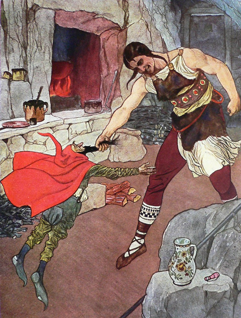 Artus Scheiner - Illustration (3) for Czech National Fairy Tale, from collection by Bozena Nemcova, 1913