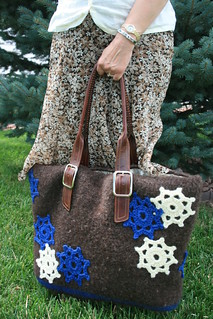 Snowflake Holiday Tote | by MarlyBird