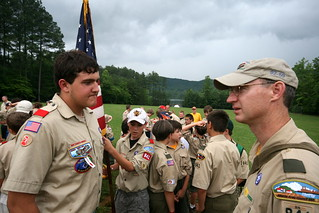 Woodruff Boy Scout Summer Camp 2009 Scoutmaster and SPL | by johntrainor