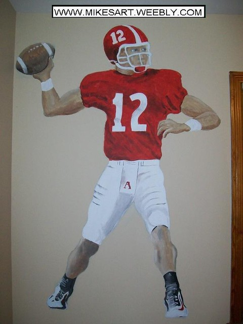 Alabama football player one of my many paintings i have for Alabama football wall mural
