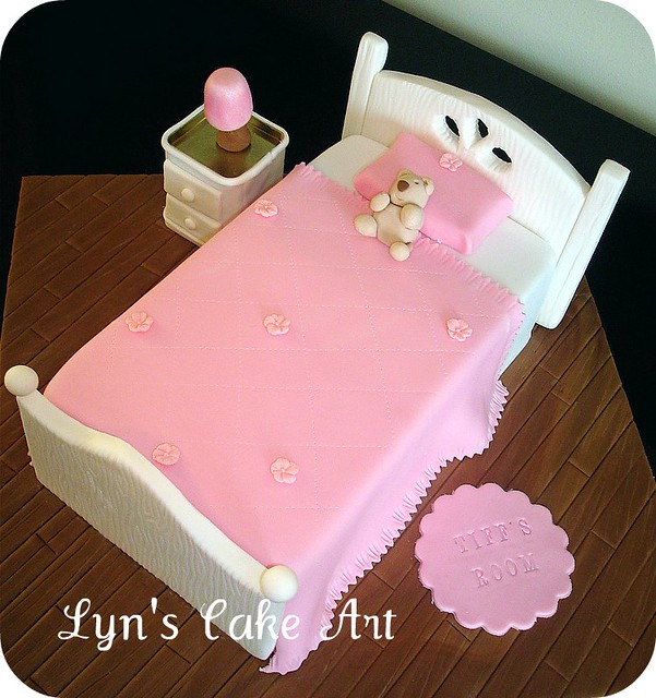 Barbie Doll Bed Cake