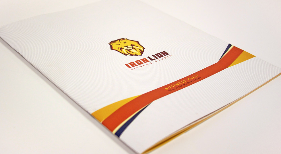 Iron Lion Business Plan Cover Business Plan Design For