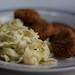 ChickUN Nuggets with Broccoli Alfredo Pasta