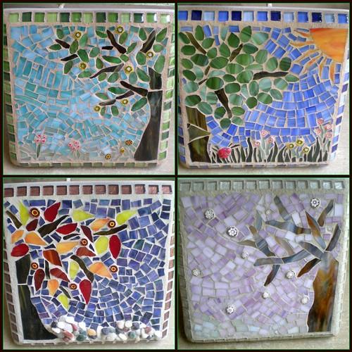 Four Seasons Mosaic Wall Art Set 1 Spring Mosaic 2