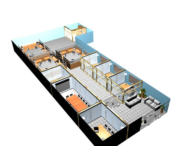 Office 3d flickr - Room design for small space plan ...