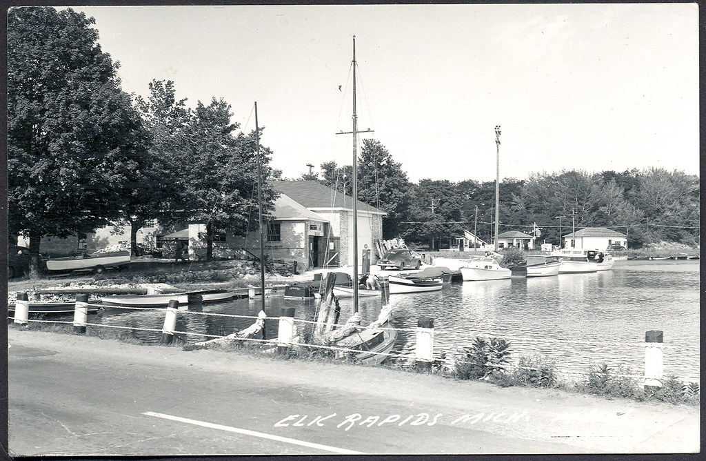 Antrim County Elk Rapids MI Great old view of the Village ...