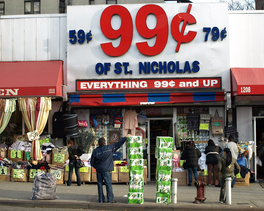 99 Cent Store Of St Nicholas Washington Heights NYC