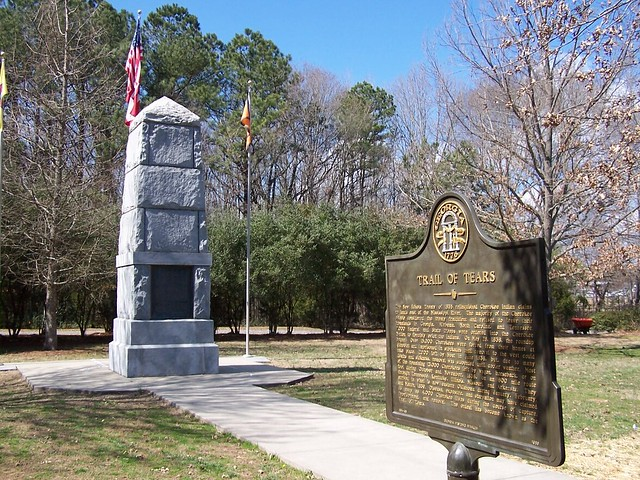 New Echota Monument And Historical Marker