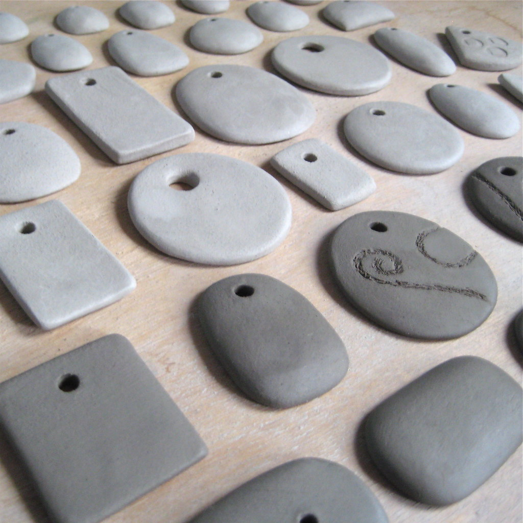 Making ceramic pendants drying ive been busy making more flickr making ceramic pendants drying by jude allman mozeypictures Gallery