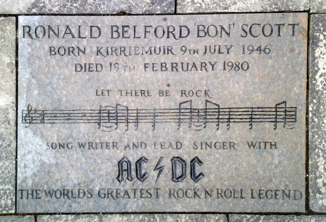 Bon Scott Memorial In Kirriemuir Scotland Flagstone