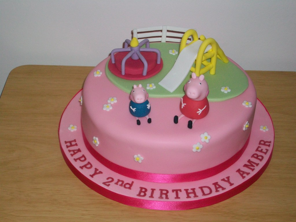 peppa pig cake pan peppa pig and george playground cake cake delights flickr 6457